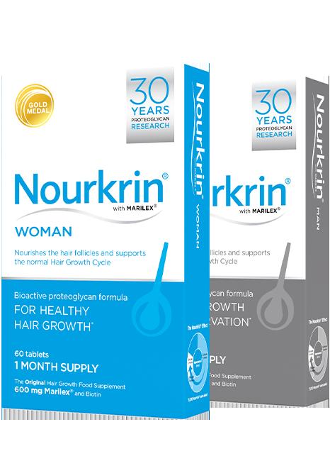 Nourkrin Woman Man Products box